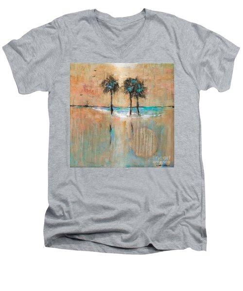 Sb Park Men's V-Neck T-Shirt by Linda Olsen