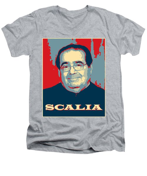 Men's V-Neck T-Shirt featuring the digital art Scalia by Richard Reeve