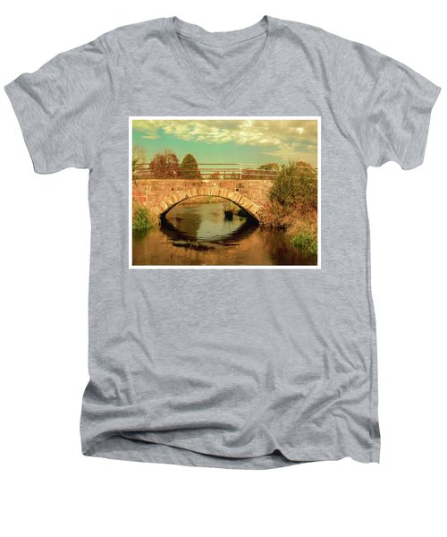Scandinavia Stone Bridge 1 Men's V-Neck T-Shirt by Trey Foerster