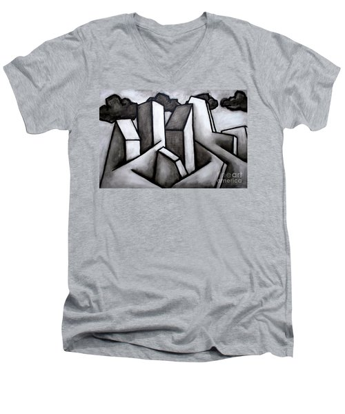 Scape Men's V-Neck T-Shirt by Thomas Valentine