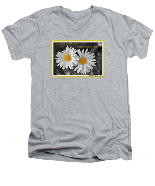 Scars Have Healed Men's V-Neck T-Shirt by Holley Jacobs