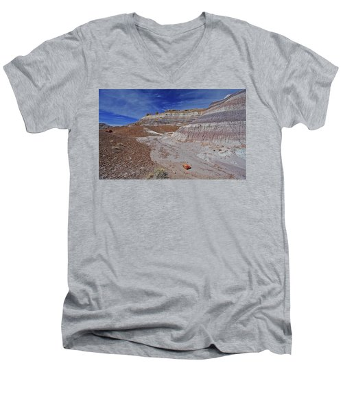 Men's V-Neck T-Shirt featuring the photograph Scattered Fragments by Gary Kaylor