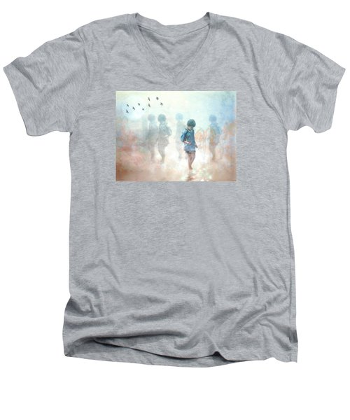Scavenger--holding The Earth Men's V-Neck T-Shirt