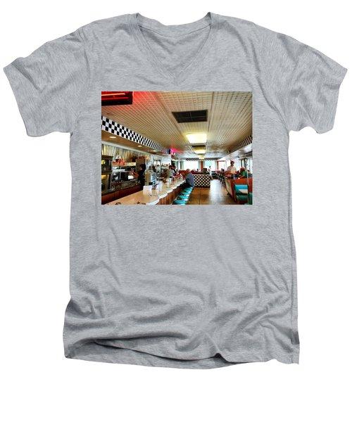 Scenes From A Diner Men's V-Neck T-Shirt