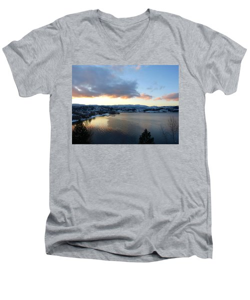 Men's V-Neck T-Shirt featuring the photograph Scenic Lake Country by Will Borden
