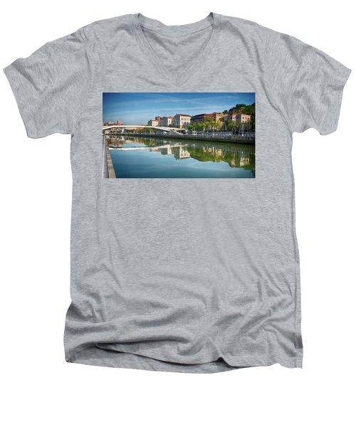 Scenic River View Men's V-Neck T-Shirt by James Hammond