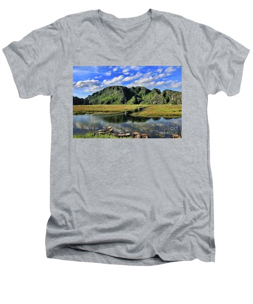 Scenic Route  Men's V-Neck T-Shirt by Chuck Kuhn
