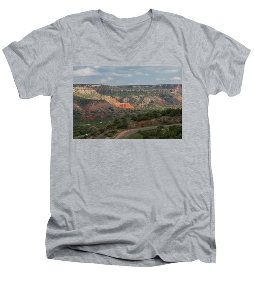 Scenic View Of Palo Duro Canyons Men's V-Neck T-Shirt