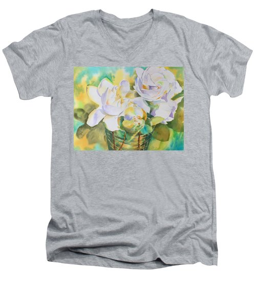 Scent Of Gardenias  Men's V-Neck T-Shirt