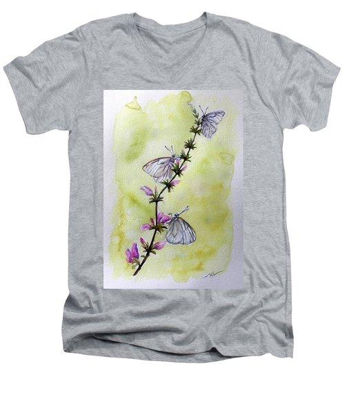 Scent Of Spring Men's V-Neck T-Shirt