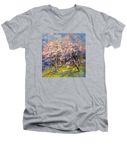 Scented Blooms Men's V-Neck T-Shirt by Tatiana Iliina