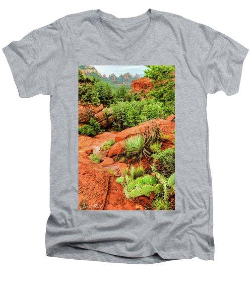 Schnebly Hill 07-057 Men's V-Neck T-Shirt