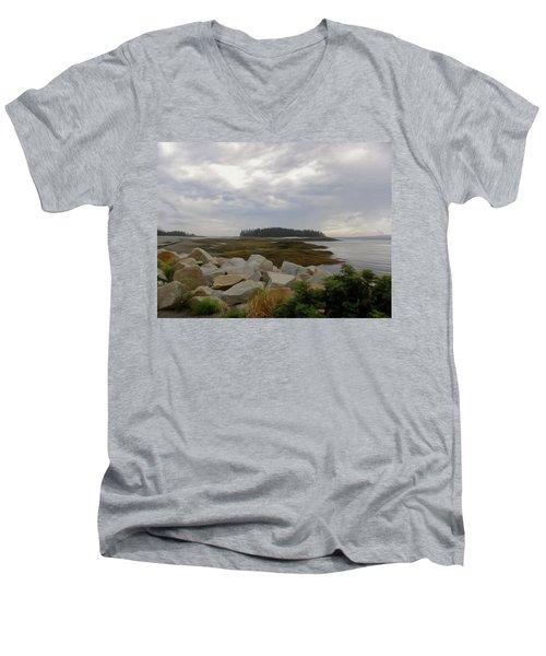Schoodic Point Maine Men's V-Neck T-Shirt