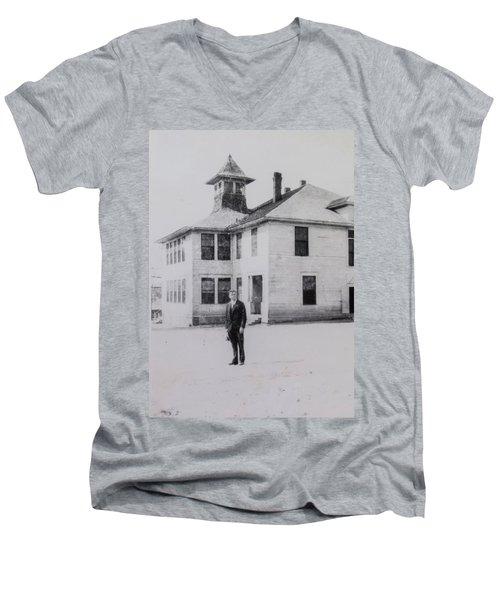 School 1901 Back Men's V-Neck T-Shirt