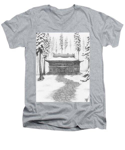 School In The Snow Men's V-Neck T-Shirt