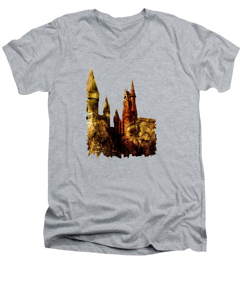 School Of Magic Men's V-Neck T-Shirt by Anastasiya Malakhova