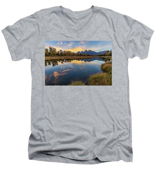 Schwabacher Sunset 1 Men's V-Neck T-Shirt