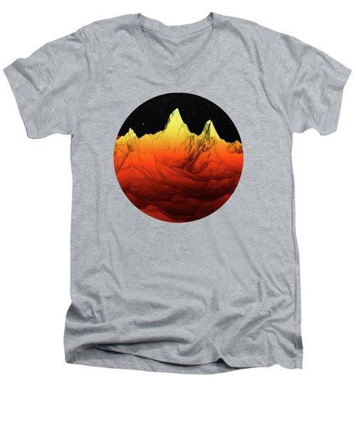 Sci Fi Mountains Landscape Men's V-Neck T-Shirt