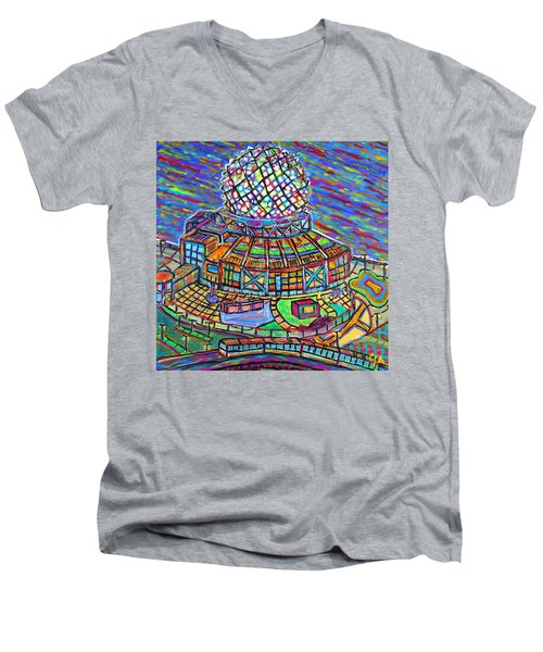 Science World, Vancouver, Alive In Color Men's V-Neck T-Shirt by Jeremy Aiyadurai