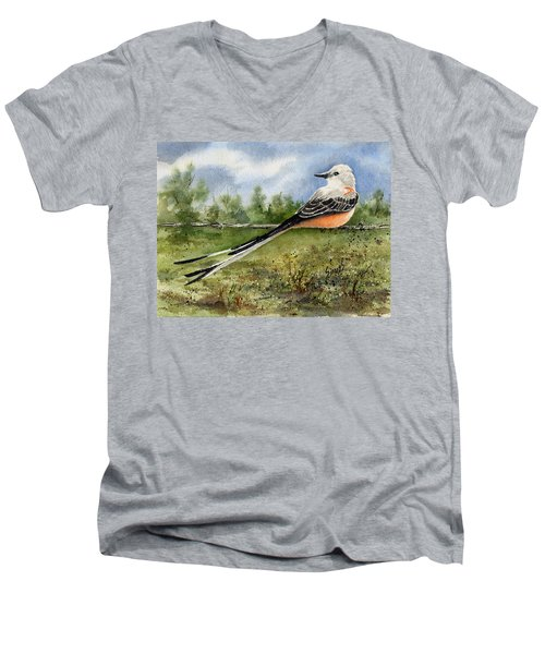 Scissor-tail Flycatcher Men's V-Neck T-Shirt