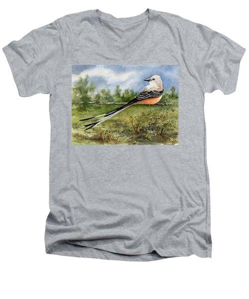 Scissor-tail Flycatcher Men's V-Neck T-Shirt