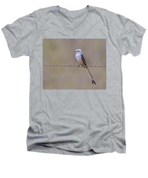 Scissor-tailed Flycatcher Men's V-Neck T-Shirt by Tony Beck