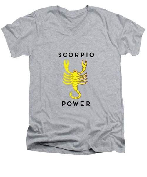 Scorpio Power Men's V-Neck T-Shirt