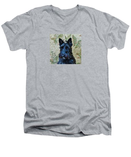 Men's V-Neck T-Shirt featuring the photograph Scottie by Michele Penner