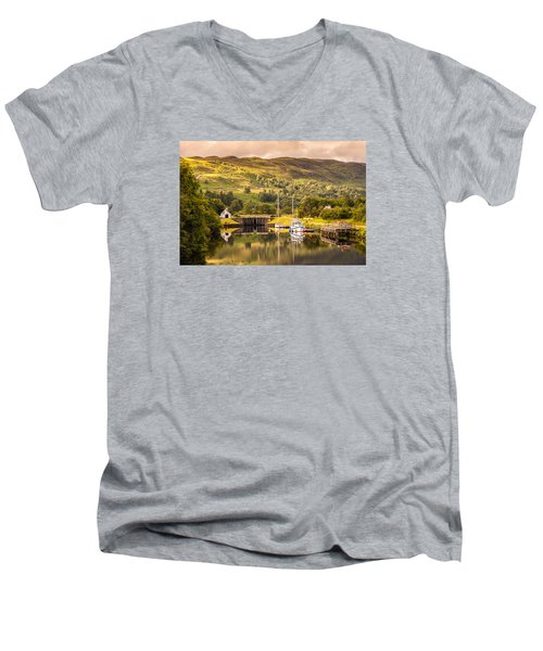 Scottish Loch 3 Men's V-Neck T-Shirt