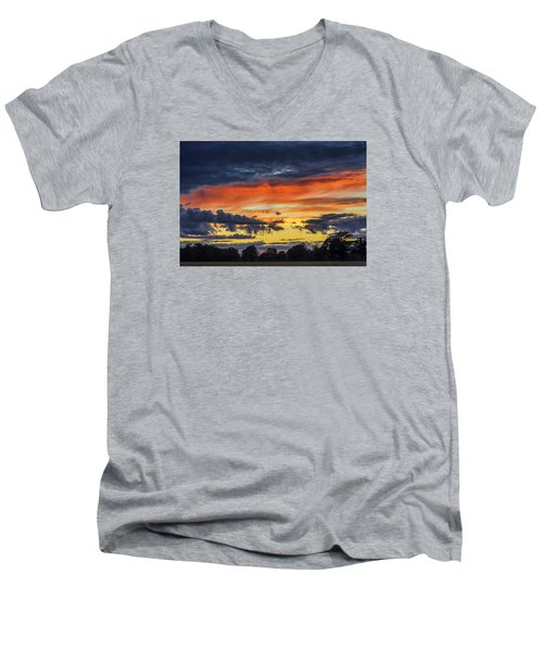 Men's V-Neck T-Shirt featuring the photograph Scottish Sunset by Jeremy Lavender Photography