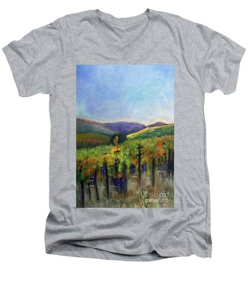 Scotts Vineyard Men's V-Neck T-Shirt by Donna Walsh