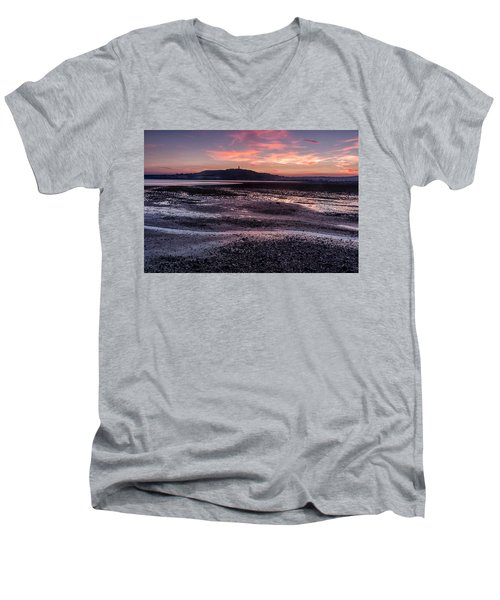Scrabo Above Strangford Lough Men's V-Neck T-Shirt