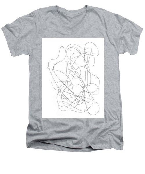 Scribble For Grin And Bear It Men's V-Neck T-Shirt by Ismael Cavazos