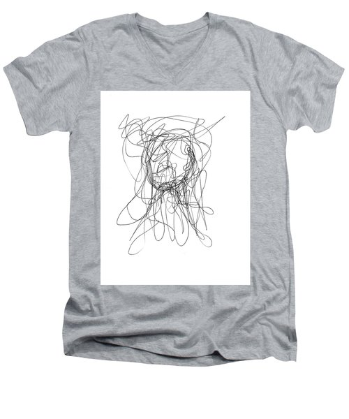 Scribble For Gusts, Dust, The Sun... Men's V-Neck T-Shirt by Ismael Cavazos