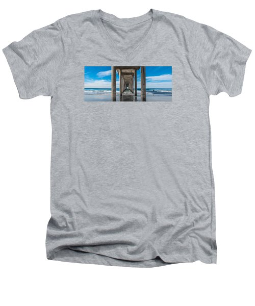 Scripps Pier La Jolla California Men's V-Neck T-Shirt