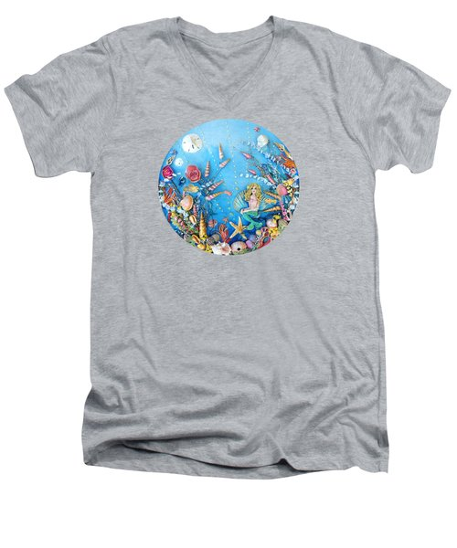 Sculpted Mermaid Sea World Men's V-Neck T-Shirt