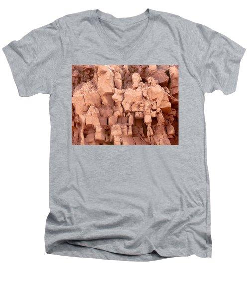Sculpted Rocks Men's V-Neck T-Shirt