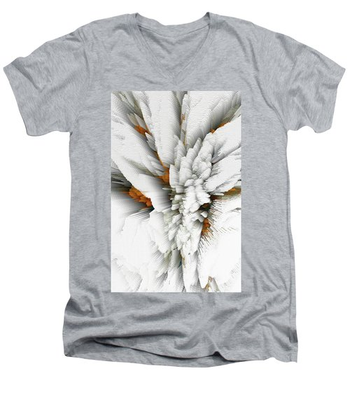Men's V-Neck T-Shirt featuring the digital art Sculptural Series Digital Painting 05.072311 by Kris Haas