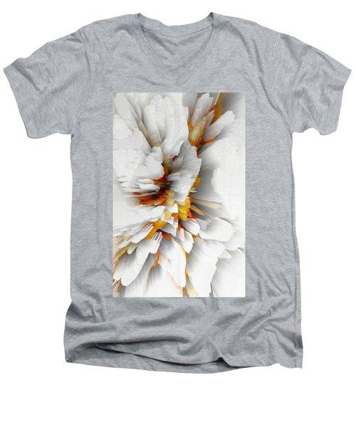 Men's V-Neck T-Shirt featuring the digital art Sculptural Series Digital Painting 22.120210 by Kris Haas