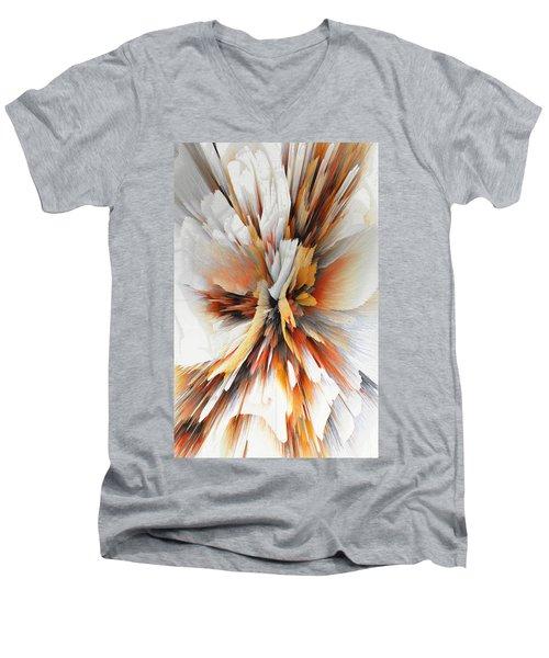 Men's V-Neck T-Shirt featuring the digital art Sculptural Series Digital Painting 22.120210eext290lsqx2 by Kris Haas