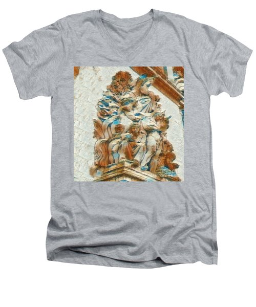 Sculpture - Paris France - Arc De Triomphe Men's V-Neck T-Shirt