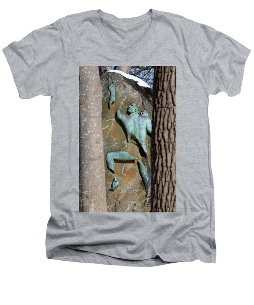 Sculpture Stony Brook New York Men's V-Neck T-Shirt