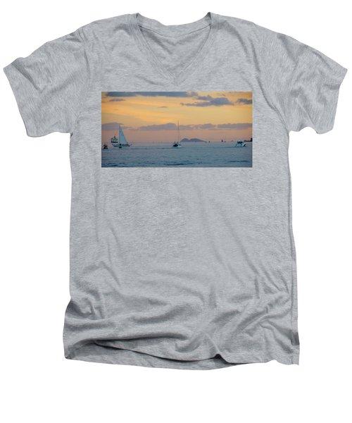 Sd Sumset 1 Men's V-Neck T-Shirt