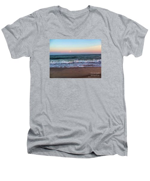 Men's V-Neck T-Shirt featuring the photograph Sea And Sky by Roberta Byram