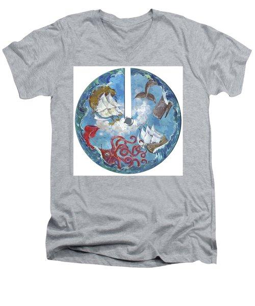 Sea Battle Men's V-Neck T-Shirt