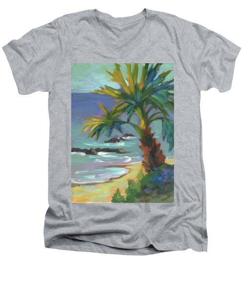 Sea Breeze Men's V-Neck T-Shirt by Diane McClary