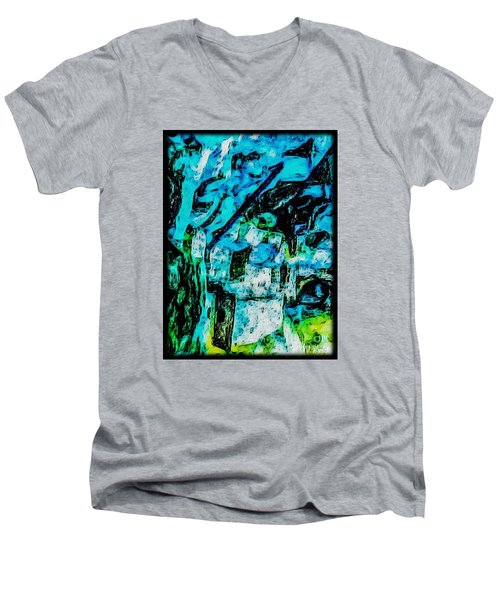 Men's V-Neck T-Shirt featuring the photograph Sea Changes by William Wyckoff