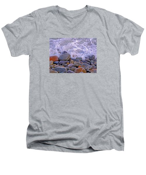 Sea Covers All  Men's V-Neck T-Shirt by Lynda Lehmann