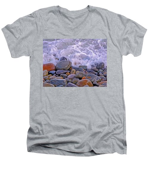Sea Covers All  Men's V-Neck T-Shirt