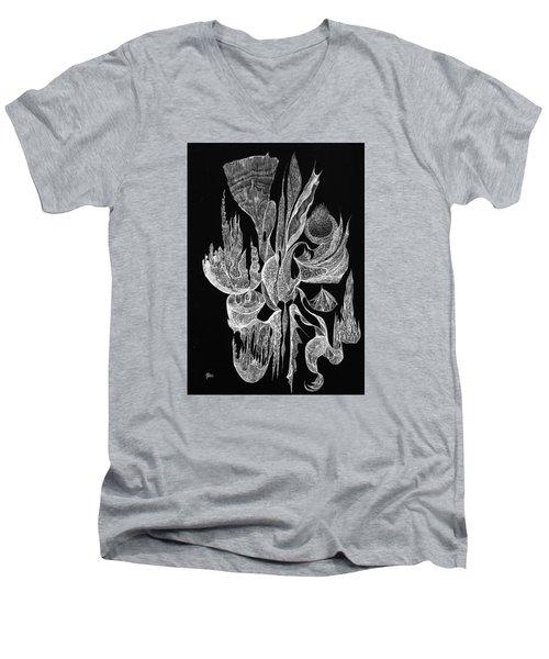 Sea Filigree Men's V-Neck T-Shirt by Charles Cater